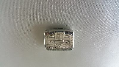 Stunning Antique Sterling Silver Vinaigrette Ledsom And Vale Birmingham 1818
