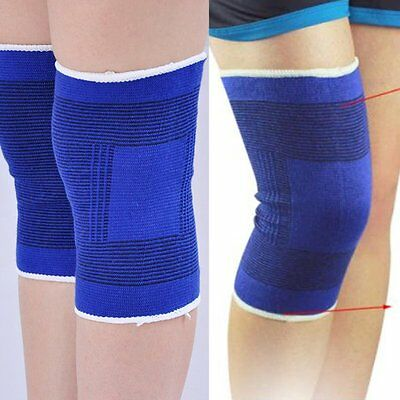 2 Pcs Brace Elastic Muscle Knee Support Compression Sleeve Sport Pain Relief New