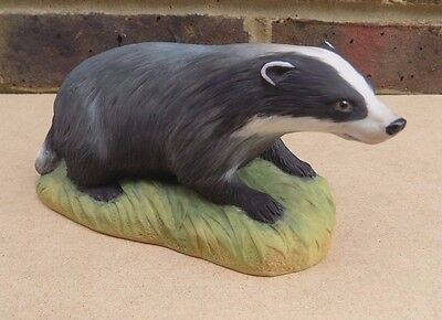 AYNSLEY Porcelain Badger Figurine