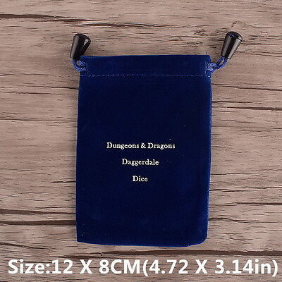 Dice Bag For MTG RPG D&D DND Poly Dice Board Games Gathering Toy Blue