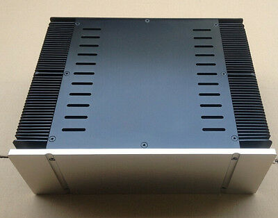 3390 silver full Aluminum Preamplifier enclosure/amplifier chassis AMP BOX