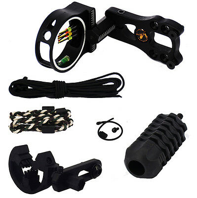 Compound Bow 5-pin Arrow Rest Bow Sling Strap Peep Sight Bow String Stabilizer