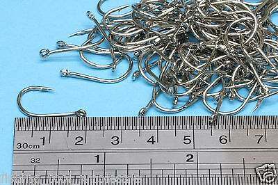 Pack No: 12 - 100 Pcs Silver Hook Brand-New Fishing   Terminal Tackle   Hooks