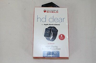 NEW ZAGG HD Clear Screen Protector for 42mm Apple Watch A42HWS-F0B A42HWS-F00
