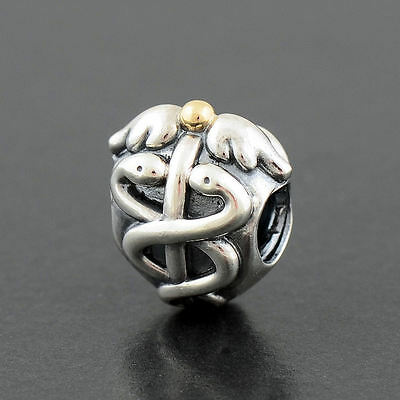 Authentic Genuine Pandora Sterling Silver 14k Gold Life Saver Charm - 791042