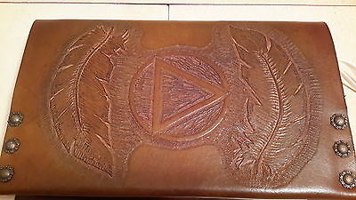 AA Big Book Cover (Hand Tooled Genuine Leather) Fits Hard Cover 4th edition