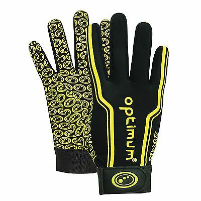 (TG. Junior S) Optimum Guanti sportivi da uomo, Ragazzi, Black / Yellow, (j8I)