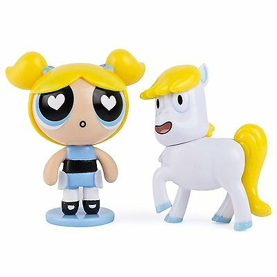 The Powerpuff Girls - 2 inch Action Dolls with Display Stands - 2-Pack - Bubbles