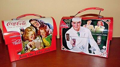 COCA COLA LUNCHBOXES- NEW WITHOUT BOX- TWO-# 2 of 4 ADS