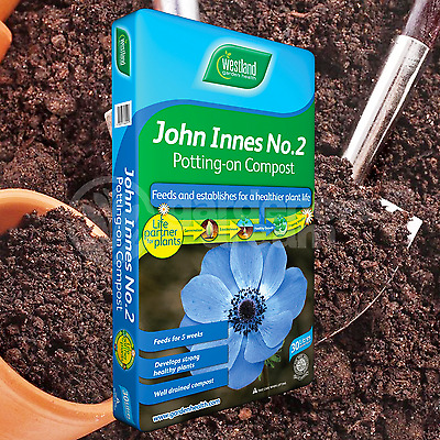 Westland John Innes No2 30L Potting On Compost Young Plant Garden Soil Builder