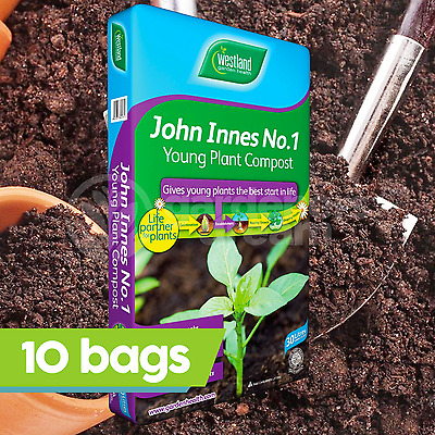 10 x Westland John Innes No1 30L Compost Young New Plant Garden Soil Root Build