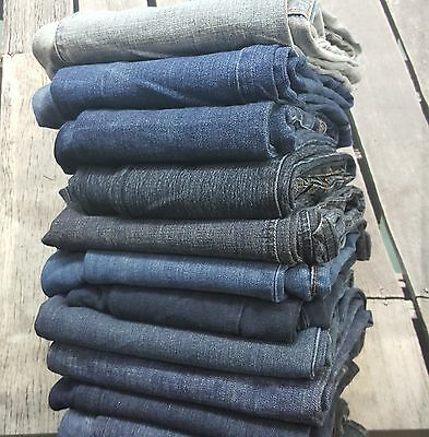 10PC Mixed Lot Denim JEANS Womens Wholesale Clothing RESALE THRIFT BOUTIQUE FWUW