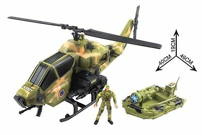 Army Toy Soldiers Jet Cargo LARGE Plane with Action Figures Multi Colour Men