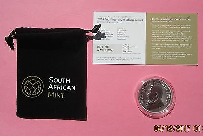 2017 So AFRICAN 50th ANNIVERSARY GEM UNCRCULATED 1 OZ .999 SILVER KRUGERRAND
