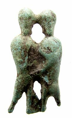 Viking Era Bronze Frey & Freya Figurine - Rare Historic Artifact Fantastic- F190