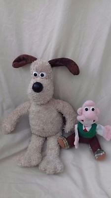 Rare Wallace & Gromit Wallace Finger Puppet  & Gromit Soft Toy gV