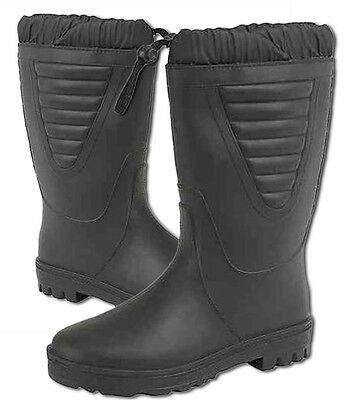 Mens Wellingtons Stormwells Tie Top Polar Boots Thermal Faux Fur in Black UK4-12