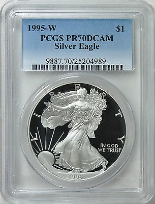 1995-W Silver Eagle Pcgs Pr70 Dcam King Of Silver Eagles