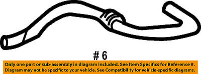 Dodge CHRYSLER OEM 03-06 Sprinter 2500 Evaporator Heater-Outer Hose 5133889AA