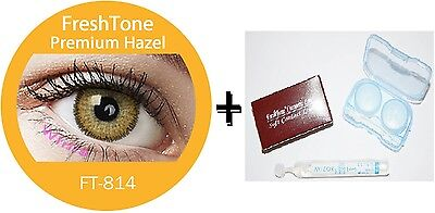Contact Lenses Colored  FRESHTONE® Premium Hazel + Case + AVIZOR solution 10 ML