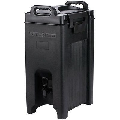 5 Gallon Black Insulated Coffee Tea Hot Cold Catering Beverage Drink Dispenser