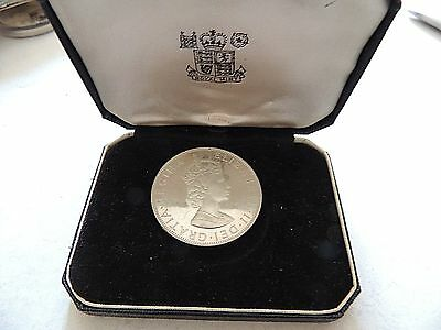 1964 Bermuda One (1) Crown Silver Proof Coin In Original Display Box