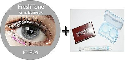 Contact Lenses Colored  FRESHTONE® Misty Gray + Case + AVIZOR solution 10 ML
