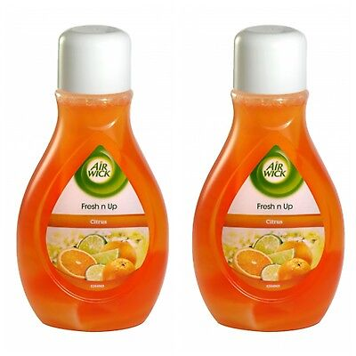 2 X 375Ml Airwick Fresh N Up Pull Up Air Freshener Citrus New Stock