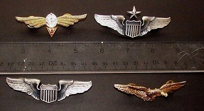 Vintage Us Army And Romania Wings Free Shipping