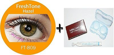 Contact Lenses Colored  FRESHTONE® Hazel + Case + AVIZOR solution 10 ML