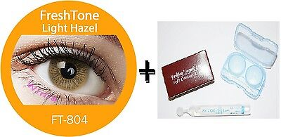 Contact Lenses Colored  FRESHTONE® Light Hazel + Case + AVIZOR solution 10 ML