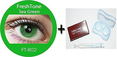 Contact Lenses Colored  FRESHTONE® Sea Green  + Case + AVIZOR solution 10 ML