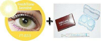 Contact Lenses Colored  FRESHTONE® Jasmine + Case + AVIZOR solution 10 ML
