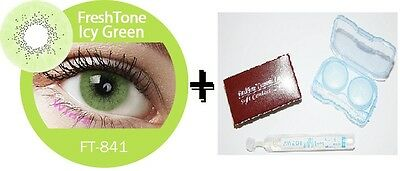 Contact Lenses Colored  FRESHTONE® Icy Green + Case + AVIZOR solution 10 ML