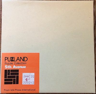 Puzzland Puzzle Collection 5th Avenue Wooden Wood Puzzle Tray Sealed Ishi Press