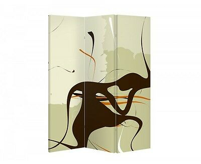 Double Sided Canvas Dressing Screen Room Divider 03583 All Sizes