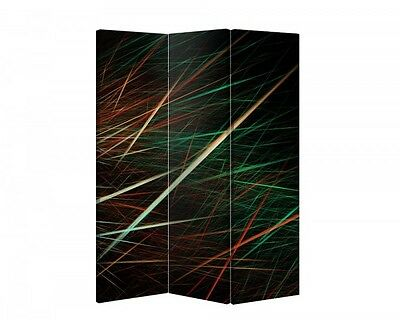 Double Sided Canvas Dressing Screen Room Divider 03759 All Sizes