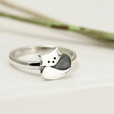 Handmade Sterling Silver Red Panda Ring