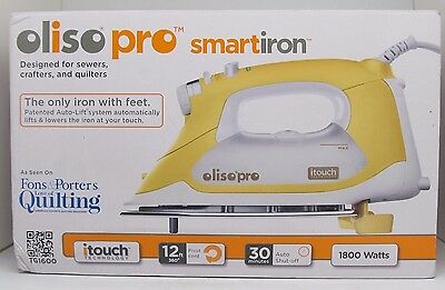Oliso Smart Steam Iron Pro iTouch Technology  TG1600 1800 Watts Quilters,Yellow