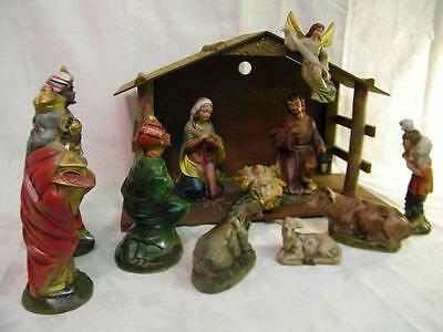 Vintage New York Merchandise Co 12pc. Handpainted Nativity Set by WALES, Japan