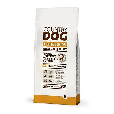 Pienso Perros Country Dog Food Light & Senior 15Kg