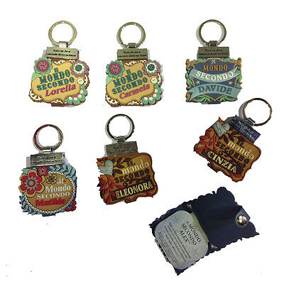 Keychain with booklet THE WORLD SECOND various names name gift idea