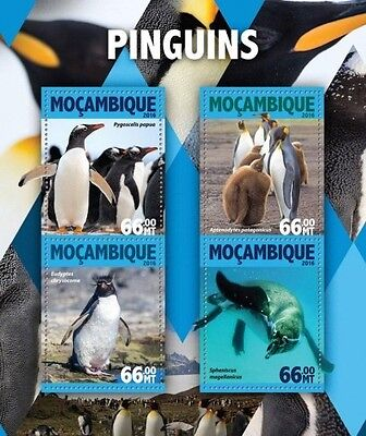 Z08 IMPERFORATED MOZ16109a MOZAMBIQUE 2016 Penguins MNH