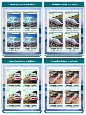 Z08 IMPERF ST17205c Sao Tome and Principe 2017 Speed trains MNH Mint