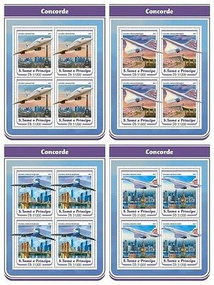 Z08 IMPERF ST17204c Sao Tome and Principe 2017 Concorde MNH Mint