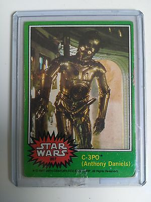 Star Wars Vintage 1977 Topps series Green X-Rated C3PO card