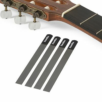 StewMac Gauged Nut Slotting File Set for Classical Guitar, Set of 4