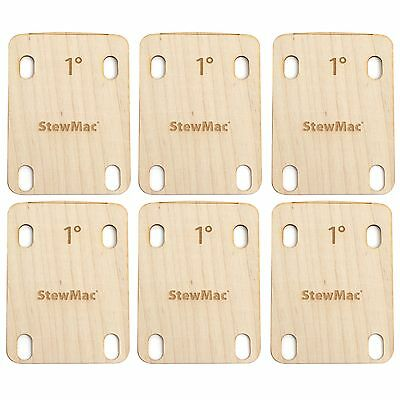 StewMac Neck Shims for Guitar, Shaped, 1 degree - 6-pack