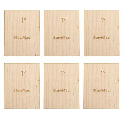 StewMac Neck Shims for Guitar, Blank, 1 degree - 6-pack