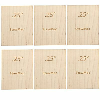StewMac Neck Shims for Guitar, Blank, 0.25 degree - 6-pack